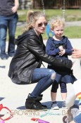 Rebecca Gayheart Takes Her Daughters Billie & Georgia To The Park