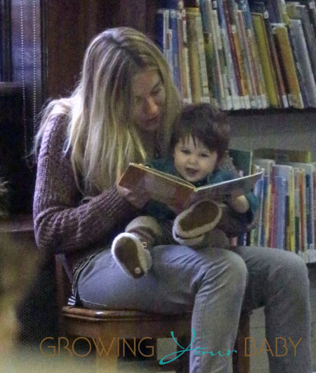 **EXCLUSIVE** Sienna Miller brings baby daughter Marlowe to a local public library for some book reading in New York City