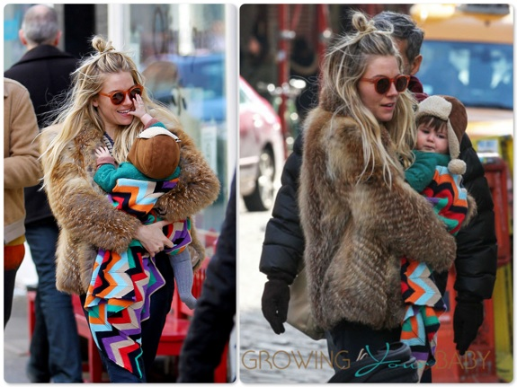 Sienna Miller out in NYC with Marlow