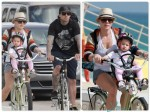 Singer Pink and Carey Hart bike with daughter Willow in Florida