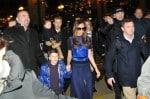 David Beckham and wife Victoria Beckham arrive at Gare du Nord railway station with their children Romeo, Brooklyn, Cruz and Harper