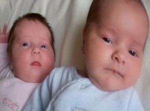 UK Twins Hannah and Thomas