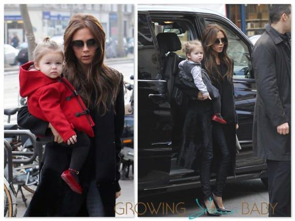 Victoria Beckham shops with Harper in Paris