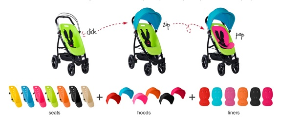 phil&teds Smart 'Color It Your Way' Stroller options