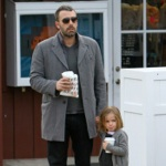 Ben Affleck Takes A Coffee Break With His Little Lady