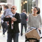 Bruce Willis & Emma Heming Shop With Mabel in LA