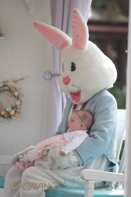 A.J. McLean visit the Easter bunny