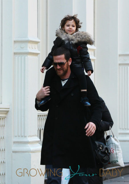 Adam Dell out with his daughter