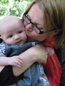 Andrea Hynes-Whalley with son Findlay