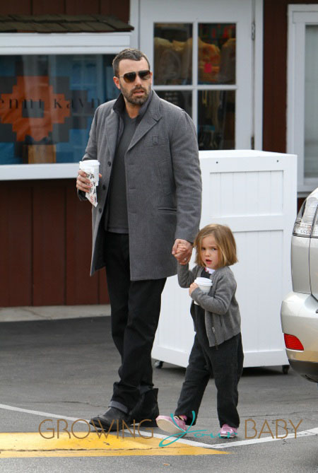 Ben Affleck takes his daughter Seraphina to Brentwood Country Mart in Los Angeles
