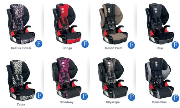 Britax Frontier and Pinnacle 90 fabric patterns