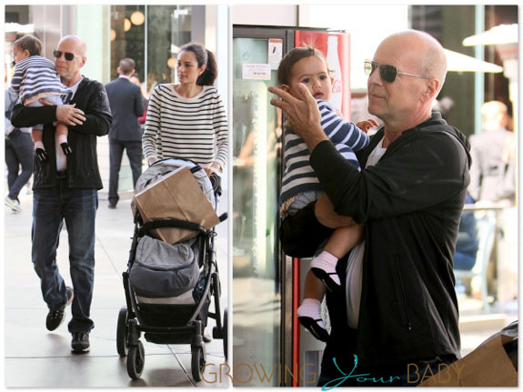 Bruce Willis & Wife Emma Heming shop with Daughter Mabel Ray