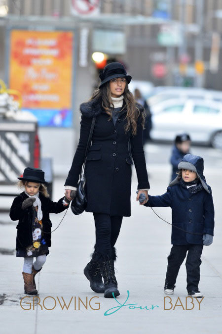 Camila Alves takes her kids out in New York City