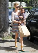 Charlize Theron Takes Son Jackson for a Trim