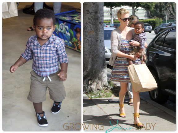 Charlize & Jackson Theron out in LA
