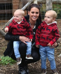 Danielle O'Hara with sons Archie and Harry