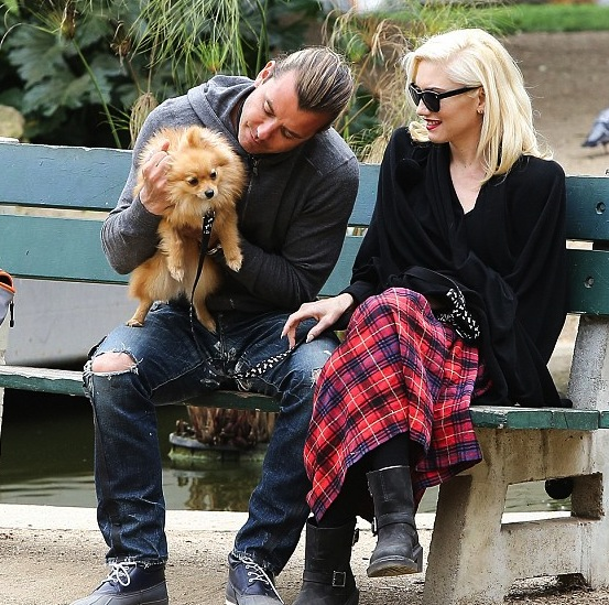 Gwen Stefani and Gavin Rossdale at the park