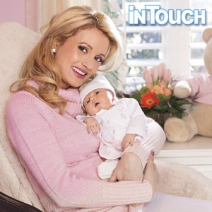 Holly Madison with daughter Rainbow Aurora