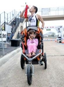 Iram Leon with daughter Kiana