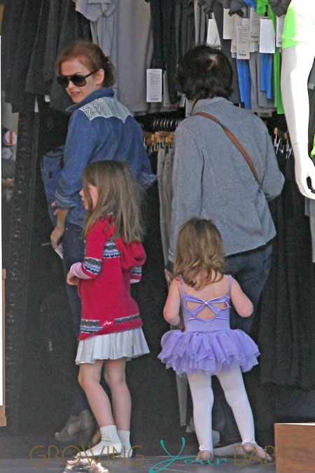 Isla Fisher takes her daughters, Olive and Elula, out for a shopping trip in Los Angeles