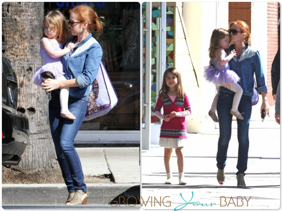 Isla Fisher with daughters Elula and Olive Cohen