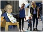 January Jones and her son Xander out for lunch in LA