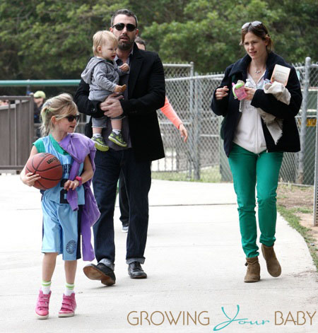 Jennifer Garner and Ben Affleck take the kids to the park
