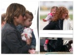Keith Urban Flys Private with his daughters Faith and Sunday Rose