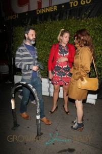 Heavily pregnant Busy Philipps leaves a friends birthday party at Cheebo on W Sunset Blvd in Beverly Hills, California