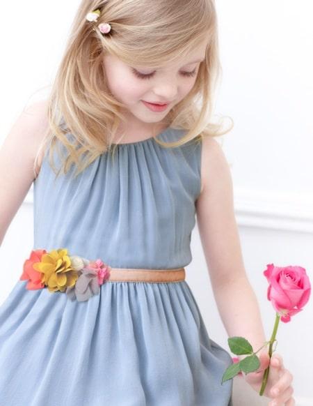 Mini Boden Rose Corsage Dress