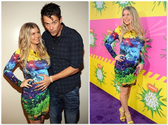 Pregnant Fergie and Josh Duhamel at the Kids Choice Awards 2013
