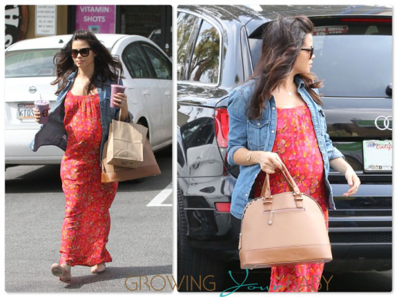 Pregnant Jenna Dewan Tatum Picks Up Some Juice At Earth