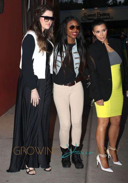 The Kardashian Family Out For Dinner At The Stanley Restaurant