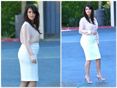 Pregnant Kim Kardashian out in LA