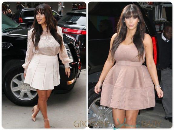Pregnant Kim Kardashian out in NYC