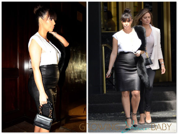 Pregnant Kim Kardashian shops in LA