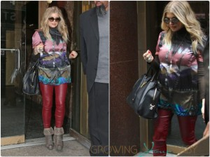 Pregnant Stacy Ferguson out in NYC