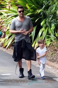Ricky Martin, Matteo Martin at the Taronga Zoo