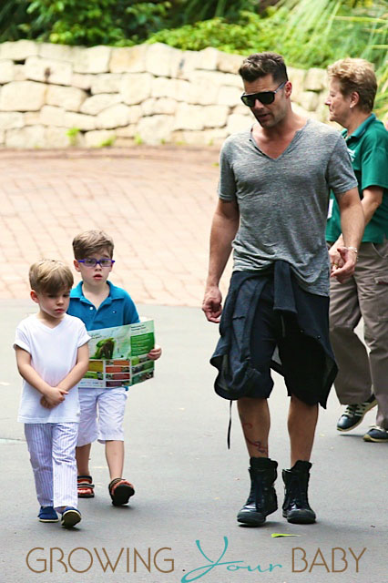 Ricky Martin With Sons Matteo And Valentino At The