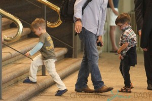 Ricky Martin Arrives At Sydney Airport With Sons Matteo & Valentino