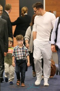 Ricky Martin and his kids arrive in Sydney, Australia