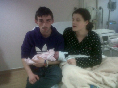 Sonia Banks and Allan Stanley with their baby Phoebe