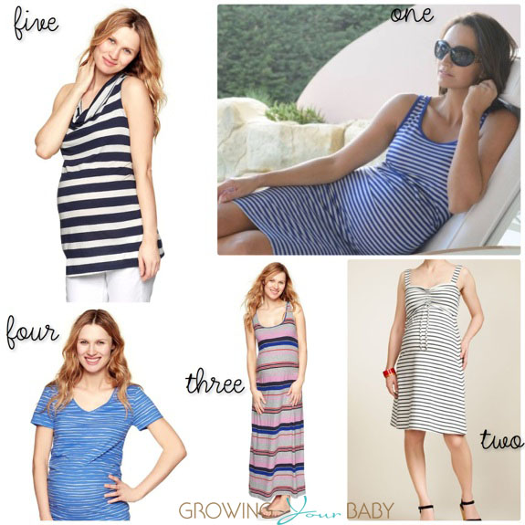 Spring Fashions pregnant moms (stripes)
