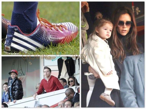 Victoria Beckham & the kids Cheer On David in Paris