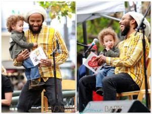 Ziggy Marley with son Abraham