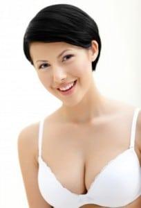 woman in a bra