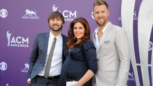 Dave Haywood, Hillary Scott and Charles Kelley of Lady Antebellum at Academy of Country Music Awards 2013