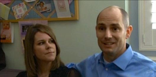 Identical triplets parents Brad and Laura Partridge