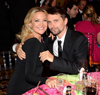 Kate Hudson and Matt Bellamy attend the Breast Cancer Foundation's Hot Pink Party at the Waldorf Astoria Hotel