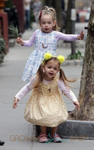 Sarah Jessica Parker's twin daughters out and about in NYC